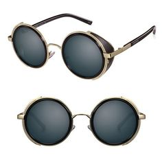 Women's Perverse 'Madness' 47Mm Round Sunglasses ($65) ❤ liked on Polyvore featuring accessories, eyewear, sunglasses, round frame glasses, steampunk glasses, steam punk glasses, steampunk sunglasses and round sunglasses