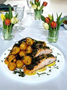 Pääsiäinen kalaruoka Egg Hunt, Tandoori Chicken, Chicken Wings, Ethnic Recipes, Food Ideas, Easter