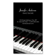 20 best piano teacher business cards images on pinterest teacher piano keys music business card colourmoves