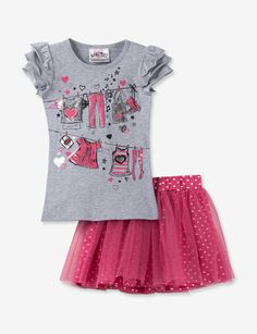 BEAUTEES TODDLER & GIRLS CLOTHES SCOOTER 2 PIECE SET