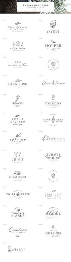 25 Delicate Feminine Logos - Vol 4 by Davide Bassu on @creativemarket