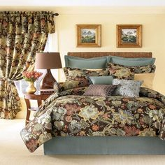 Rose Tree Audubon King Comforter Set...I have this on my bed....so pretty!