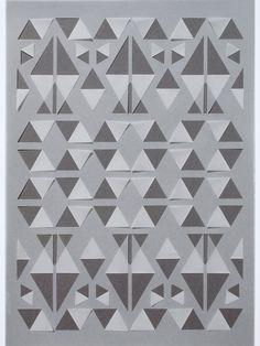 Grey Geometric Vellum Papercut por sarahlouisematthews en Etsy