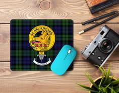 Rubber mousemat with Campbell clan crest and tartan  - only from ScotClans