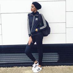 Hijab + Adidas Tracksuit (sheikhastyles)