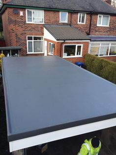 This Garage Roof In Bury Was Completely Transformed When We Installed A Grp  Roofing System,