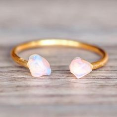 Gold Little Raw Opal Ring Bohemian Gypsy Jewels Indie and Harper Cute Jewelry, Body Jewelry, Silver Jewelry, Silver Ring, Gold Jewellery, Silver Earrings, Jewlery, Jewellery Shops, Jewelry Ideas