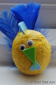 Tissue Paper Easter Chick, check out the whole set... great for small hands to make!