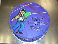 laser tag birthday cake - Google Search