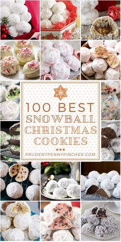 100 Best Snowball Christmas Cookies Make one of these buttery, melt in your mouth snowball Christmas cookies for your Christmas party or Christmas dinner this year. Christmas Deserts, Best Christmas Cookies, Xmas Cookies, Christmas Goodies, Holiday Desserts, Christmas Candy, Holiday Baking, Holiday Treats, Holiday Recipes