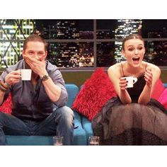 """Ani & Will on Instagram: """"Curious who's having a cuppa? Keira Knightley and Tom Hardy drinks tea even during talk shows. :)#tea #teaculture #teaparty #KeiraKnightley #tomhardy"""""""