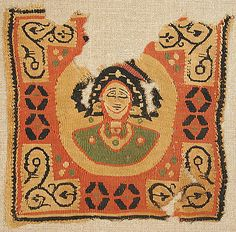 Date:      6th–7th century  Geography:      Made in, Byzantine Egypt  Culture:      Coptic  Medium:      Wool  Dimensions:      7 11/16 x 7 5/8 in. (19.6 x 19.3 cm)  Classification:      Textiles-Woven  Credit Line:      Gift of Nanette B. Kelekian, in honor of Nobuko Kajitani, 2002  Accession Number:      2002.239.13