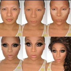 Bello efecto drag queen