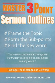 25 Best How To Write Sermons images in 2018   Bible, Outline