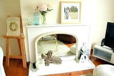 decorate mantel ideas - Google Search Wooden Floors Living Room, Wooden Flooring, Unused Fireplace, Fireplace Mantle, Flower Vases, Picture Frames, My House, Interior Design, Mantle Ideas