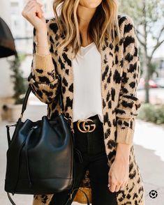 Ckysee Leopard Jewelry Set Leopard Bracelets Leopard Earrings Tortoise Earrings All Weather Bangles Boho Leather Dangle Earrings Color Beige - Outfits for Work Leopard Cardigan Outfit, Leopard Print Outfits, Animal Print Outfits, Cardigan Outfits, Leopard Sweater, Animal Print Clothes, Leopard Vans Outfit, Leopard Clothes, Leopard Prints