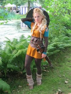 Lagertha Cosplay Costume  This costume must be easy to move around in, considering the character appears to be a warrior