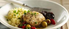 Feel like you're visiting the coast of Spain when you taste this fantastic dish. Simply marinate chicken thighs, place in the slow cooker and later serve alongside couscous.