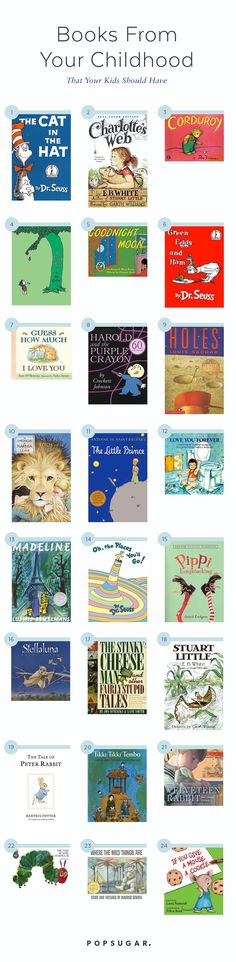 It's time to revisit those books that you once (and probably still) love so that your kiddos can enjoy them as well.  Check out these 32 books from your childhood that your tots need to have on their bookshelves, stat!