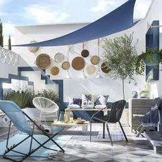 Trendy Home Design Exterior White Ideas Rooftop Terrace Design, Terrace Garden, Garden Seats, Gravel Garden, Outdoor Rooms, Outdoor Living, Outdoor Decor, Patio Roof, Backyard Patio