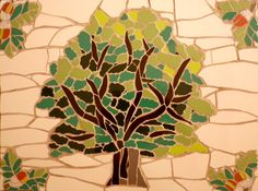 Mosaic oak tree from New Forest.