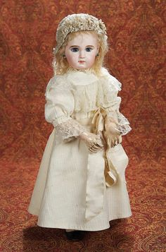 "French Bisque Bebe with Incised Depose Mark by Jumeau in Original Jumeau Costume 21"" (53 cm.)"