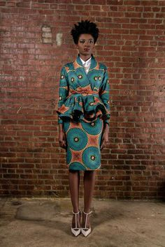 Ankara style Gorgeous suit with great shoe color and style