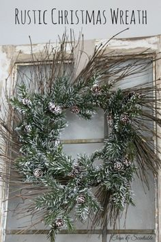 Rustic Christmas Wreath and Blog Hop
