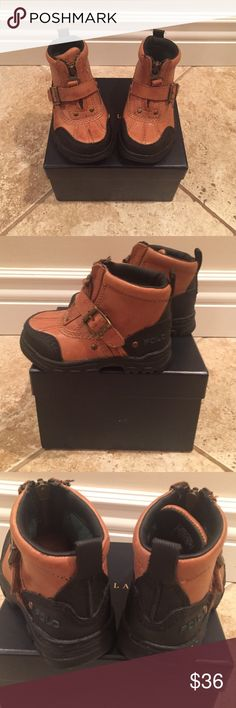 Boys leather Polo Boots In great shape! boys Polo by Ralph Lauren Colbey Boots Polo by Ralph Lauren Shoes Boots