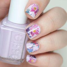 She Sells Seashells Floral Water Decals // The Nailasaurus