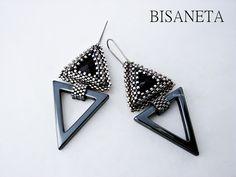 Jewelry Design Earrings, Seed Bead Jewelry, Seed Bead Earrings, Beaded Earrings, Beaded Jewelry, Handmade Jewelry, Sequin Crafts, Beadwork Designs, Earring Tutorial
