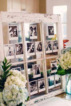 Ideas For Wedding Rustic Decoration Diy Photo Displays Polaroid Pictures Display, Polaroid Display, Display Photos, Displaying Wedding Photos, Photo Display Wedding, Diy Photo, Photo Ideas, Support Photo, Photo Polaroid
