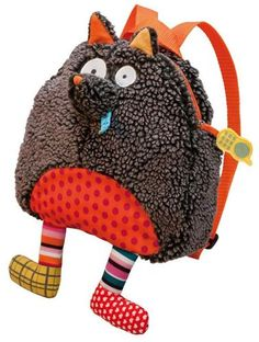 10 Adorable Backpacks for Back-to-School-Crazy Cuddly Wolf Plush Backpack Unique Backpacks, Cute Backpacks, Toddler Gifts, Toddler Toys, Wolf Plush, Funny Wolf, Animal Backpacks, Punch And Judy, Diy Sac