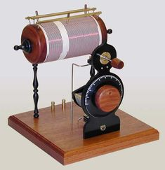 Rick's handcrafted crystal radio receiver. Now, that is steampunk!