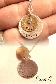 Celebrating a wedding ? Hand Stamped Jewelry - Personalized Your Necklace