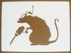 BANKSY Rats Stencils Set Of Five Catapult Drilling