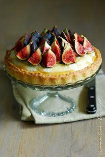 Tarte tiramisu, aux figues et miel de châtaigner