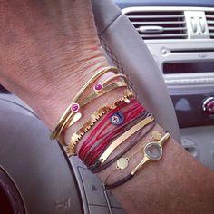 "941 Likes, 48 Comments - Ines de la Fressange (@inesdelafressangeofficial) on Instagram: ""#bracelets #emmanuellezysman #adelline #apriati #aga #babybuddha #jewelries #addict"""