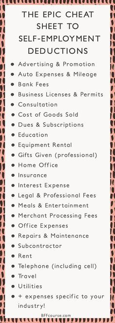 Tax Deductions Write Offs Self Employed Entrepreneur Creative Entrepreneur talk entrepreneur tips - career advice - small business - business tips - business strategy Starting A Business, Business Planning, Business Tips, Online Business, Business Opportunities, Business Education, Etsy Business, Business Motivation, Accounting For Small Business