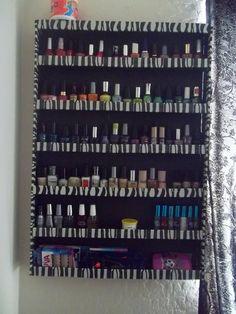 Make a Salon style nail polish holder for $6.00.
