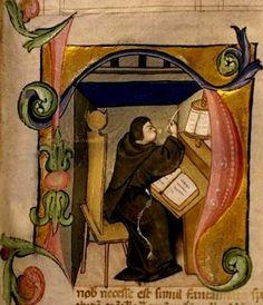 Moine copiste du XIIe siècle