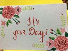 Floral print , water color cards