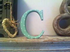 Freestanding Wooden Wedding Letter 'C'  28cm  by LoveLettersMe, £10.95