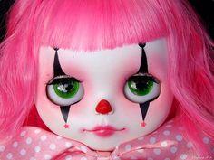 B. #blythe doll #pink #clown