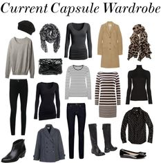 """""""Current Capsule Wardrobe - December 2011"""" by victoriastyle ❤ liked on Polyvore"""