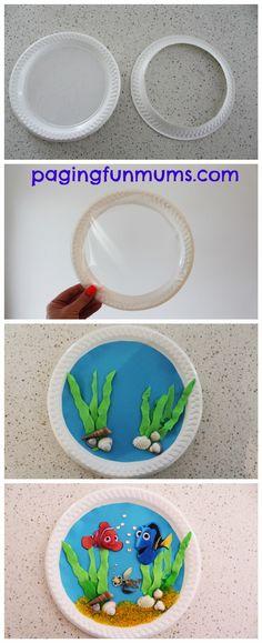 Dory inspired Paper Plate Aquarium Finding Nemo Inspired Paper Plate Porthole craftRiver Plate River Plate may refer to: Paper Plate Crafts For Kids, Diy Crafts For Kids, Projects For Kids, Art For Kids, Craft Projects, Arts And Crafts, Paper Crafts, Ocean Crafts, Fish Crafts