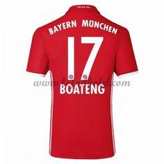 Billige Fodboldtrøjer Bayern Munich 2016-17 Boateng 17 Kortærmet Hjemmebanetrøje