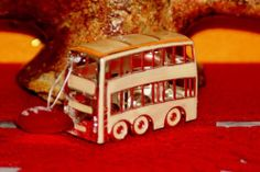 VINTAGE MODELLINO AUTOBUS A 2 PIANI LONDINESE IN SILVER PLATED