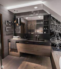 PROJEKT ŁAZIENKI 2017 Łódź - Średnia łazienka na poddaszu w domu jednorodzinnym, styl nowoczesny - zdjęcie od BIBI