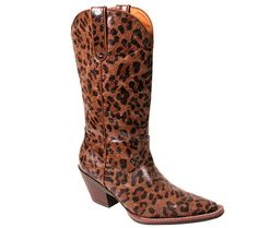 Let your style go wild! Take that basic black dress or your favorite jeans and T-shirt to a whole new frontier when you add these leopard-print cowboy boots to the mix. From Nomad Footwear. QVC.com